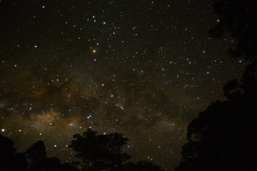 The skies are alive above the heavens of Kolombangara.