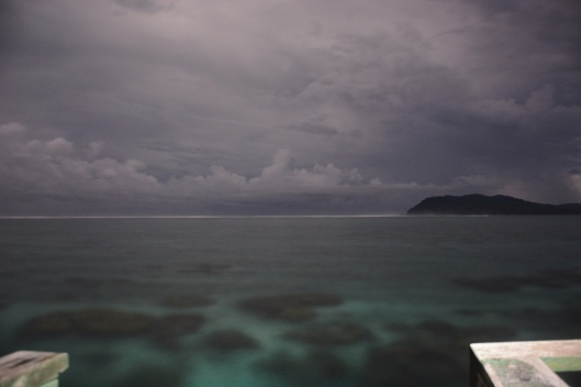A bright night illuminating the pristine reefs surrounding Tetepare.