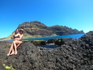 Nelson & I exploring some of the volcanic features of Lord Howe Island's past.